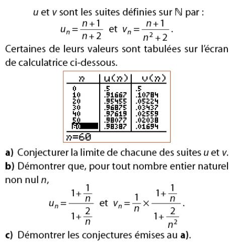 Démontrer des conjectures avec des suites rationnelles : exercices en terminale S.
