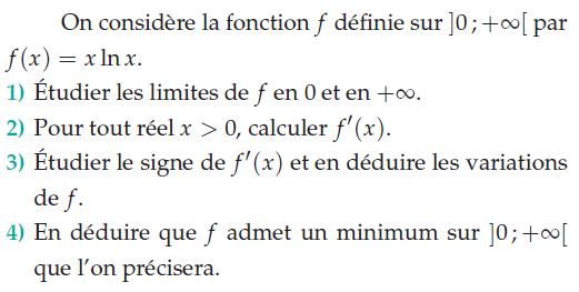 Etude le signe de f'(x) et étudier les variations : exercices en terminale S.