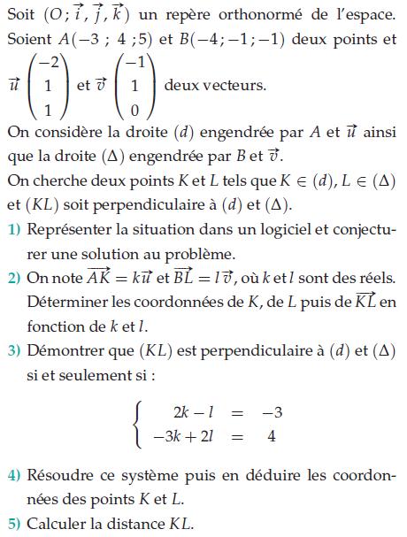 Calculer une distance et conjecture dans un logiciel : exercices en terminale S.