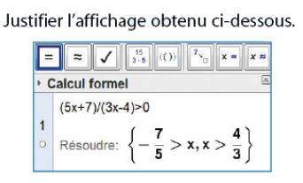 Calcul formel et fonction inverse : exercices en 2de.