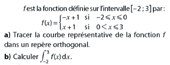 Tracer la courbe et calculer l'intégrale : exercices en terminale S.
