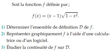 Déterminer l'ensemble de définition de f : exercices en terminale S.