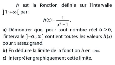 Interpréter graphiquement une limite : exercices en terminale S.