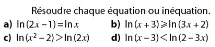Logarithmes et inéquations : exercices en terminale S.