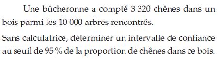 Une bûcheronne et le nombre de chênes : exercices en terminale S.