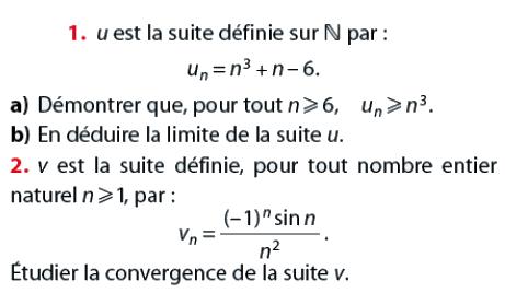 Convergence d'une suite et étude : exercices en terminale S.