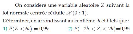 Déterminer, en arrondissant, h et t : exercices en terminale S.