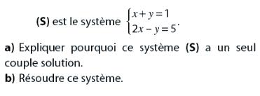 Système de deux équations à deux inconnues : exercices en 2de.
