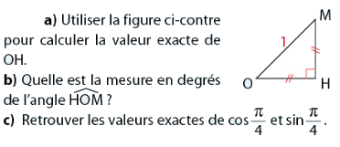 Calculer une longueur avec la trigonométrie : exercices en 2de.