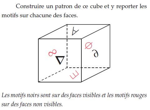 Construire le patron d'un cube : exercices en 2de.
