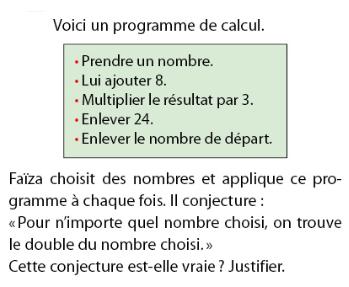 Programme de calcul et équations : exercices en 2de.