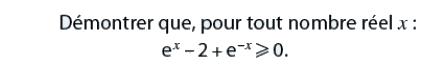 Démontrer une inégalité avec exponentielles : exercices en terminale S.