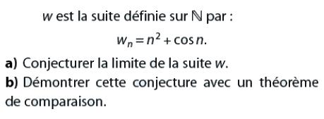 Conjecturer la limite d'une suite : exercices en terminale S.