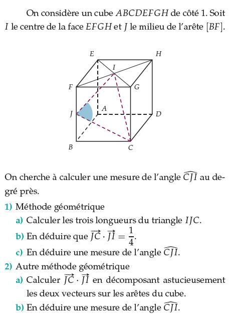 Calculer les trois longueurs du triangle : exercices en terminale S.
