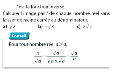Fonction inverse et racines carrées : exercices en 2de.