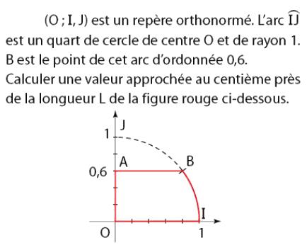 Calculer une valeur approchée de la longueur L : exercices en 2de.