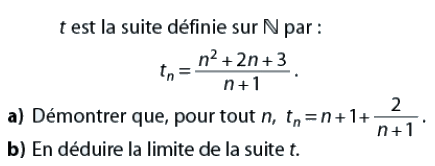 Suite rationnelle et limite : exercices en terminale S.
