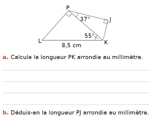 Calculer la longueur : exercices en 3ème.