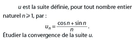 Convergence de la suite u : exercices en terminale S.