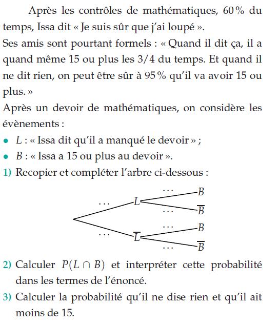 Probabilites Conditionnelles Et Independance Exercices De Maths Terminale S Tnale S A Imprimer Et Telecharger En Pdf