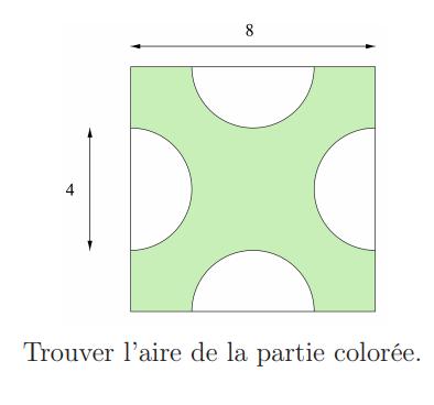 Calculer l'aire de la zone coloriée : exercices en 5ème.