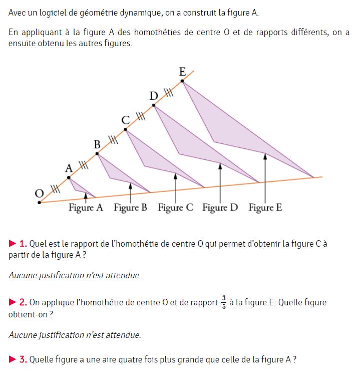 Brevet de maths et Homothéties : exercices en 3ème.