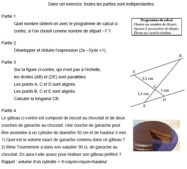 Quatre problèmes de maths à résoudre : exercices en 3ème.