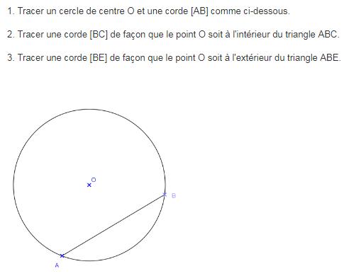 problème sur le cercle et le tracé de corde : exercices en 6ème.