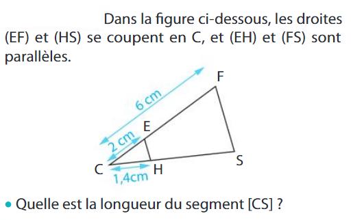 Quelle est la longueur du segment ? : exercices en 3ème.