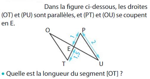 Thalès et calcul d'une longueur : exercices en 5ème.