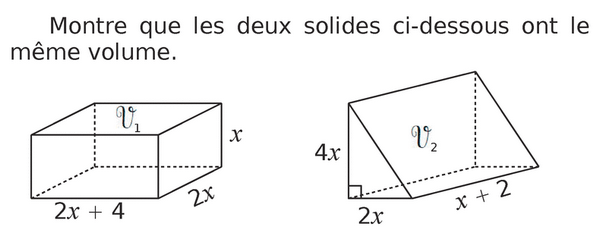 Volume de solides : exercices en 4ème.