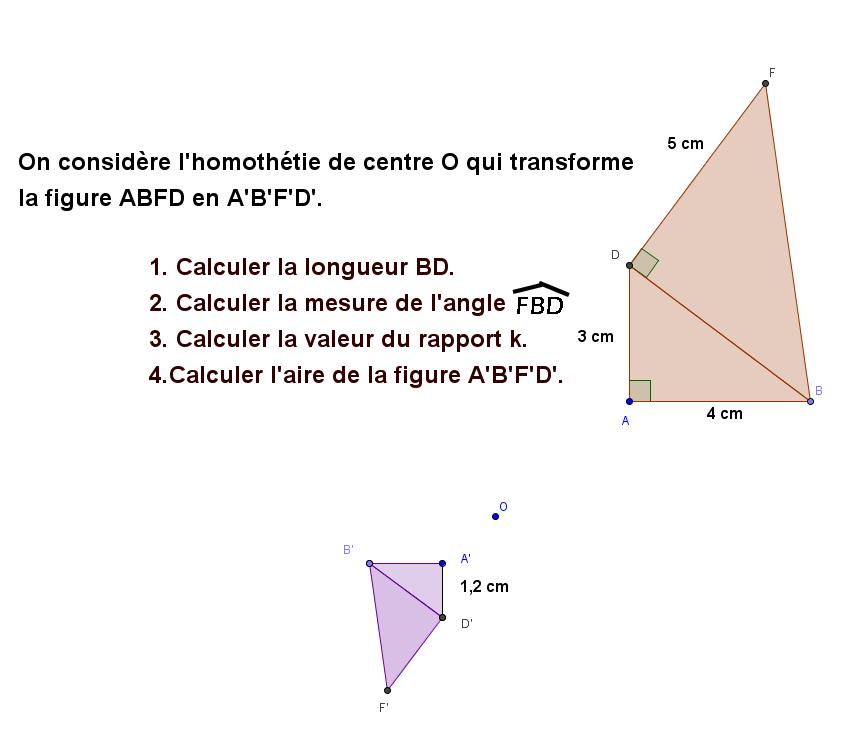 Synthèse sur les homothéties : exercices en 3ème.