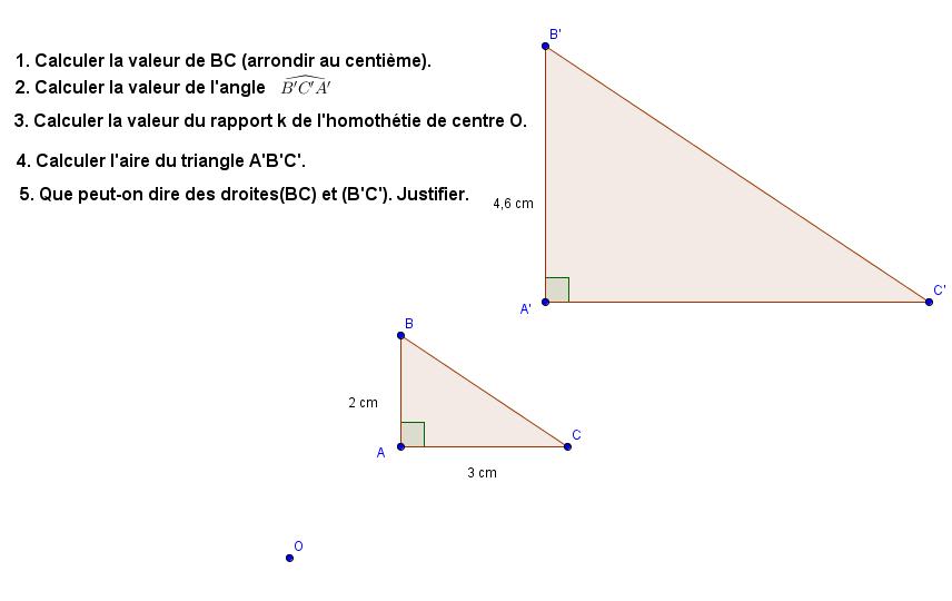 Utilisation des propriétés de l'homothétie : exercices en 3ème.