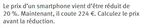 Prix d'un smartphone : exercices en 4ème.