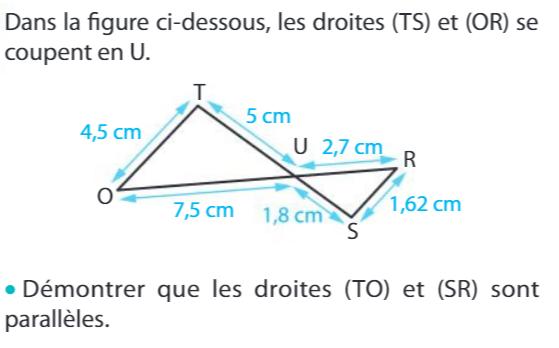 Démontrer que des droites sont parallèles : exercices en 3ème.
