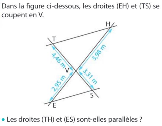 Réciproque du théorème de Thalès : exercices en 3ème.