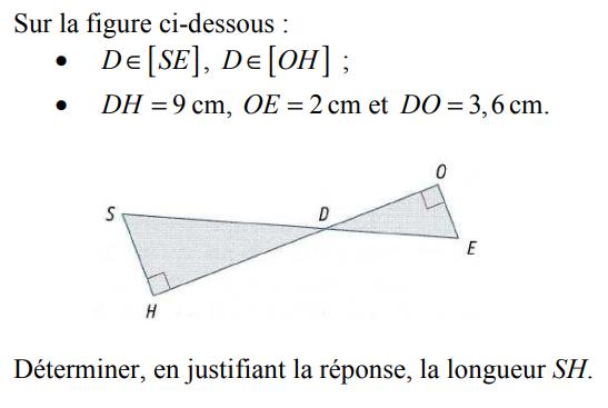 Partie directe du théorème de Thalès : exercices en 3ème.