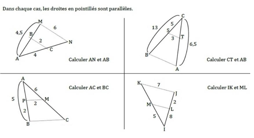 Applications simples de la partie directe : exercices en 3ème.