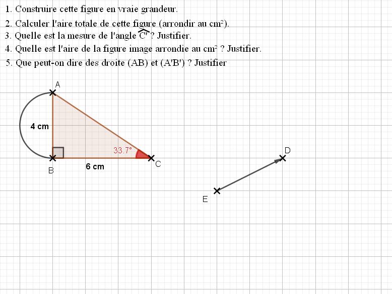 Translation d'un triangle : exercices en 4ème.