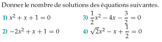 Nombre de solutions d'équations : exercices en 1ère S.