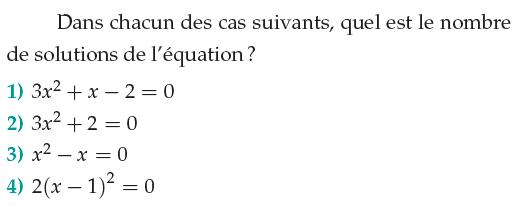 Nombre de solutions d'une équation : exercices en 1ère S.