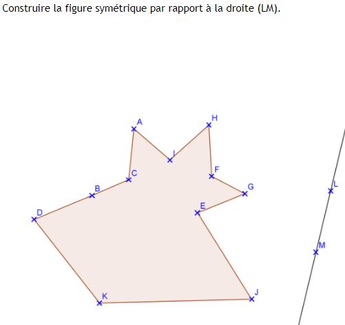 La symétrie axiale : exercices de maths 6ème (sixième) à ...