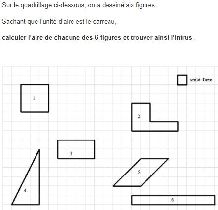 Pour prendre un bon départ sur les formules d'aires : exercices en 5ème.