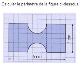 Calcul du périmètre d'une figure : exercices en 5ème.
