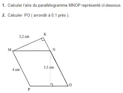 Calculer l'aire d'une figure géométrique : exercices en 5ème.