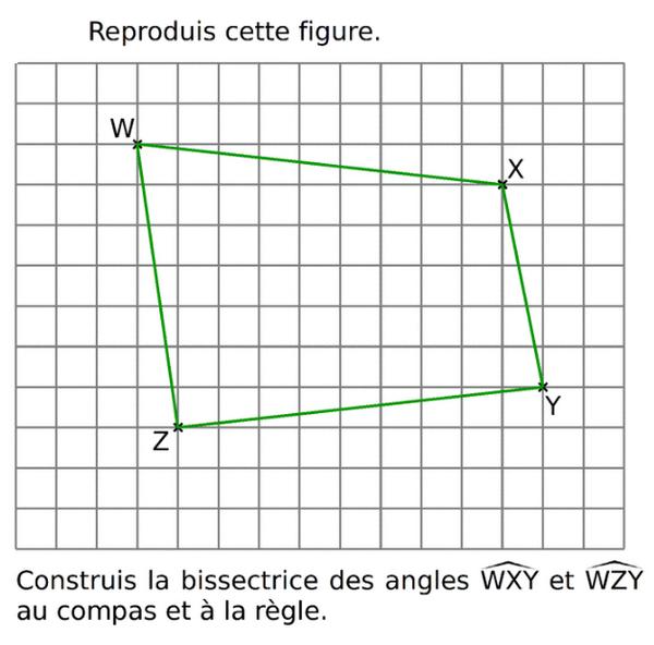 Construire la bissectrice des angles : exercices en 6ème.
