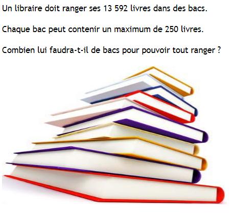 Problème - le libraire. : exercices en 6ème.