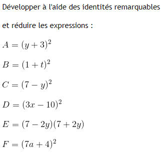 Le calcul littéral : exercices de maths 3ème (troisième) à ...