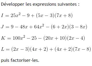 Le Calcul Litteral Exercices De Maths 3eme Troisieme A Imprimer Et Telecharger En Pdf