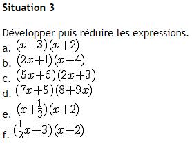 Calcul littéral, développer et factoriser : exercices en 4ème.